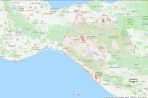 mapa para llegar a chiapas