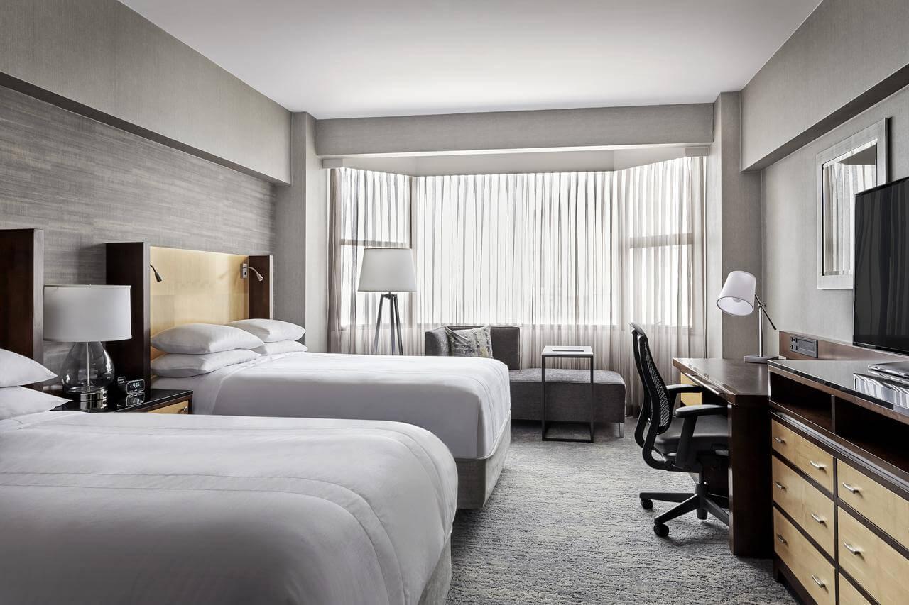 habitación doble del Hotel San Francisco Marriott Union Square - mejores paquetes vacacionales a San Francisco