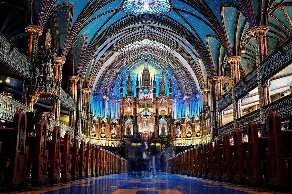 Basílica Notre-Dame de Montreal - mejores paquetes vacacionales a Canadá