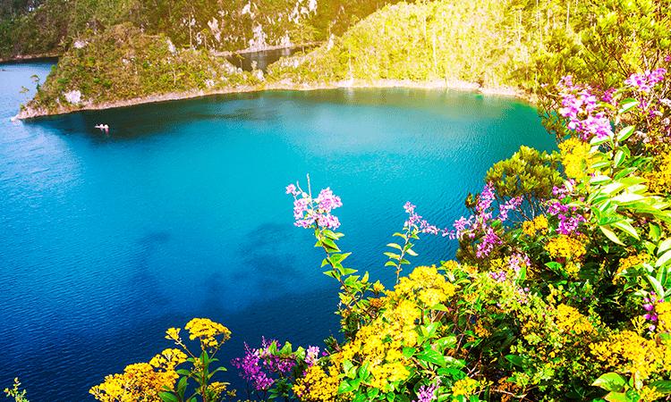Laguna en Chiapas